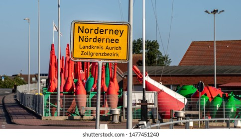 city sign Norderney, travel Nordsee Germany island
