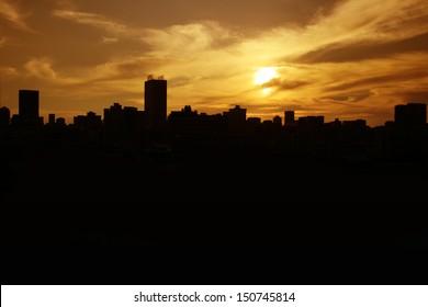 City silhouette Johannesburg