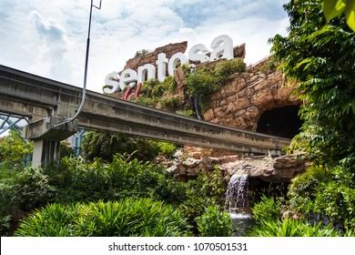 city, singapore, amusement park Universal Studios, park, otraktsion, monorails