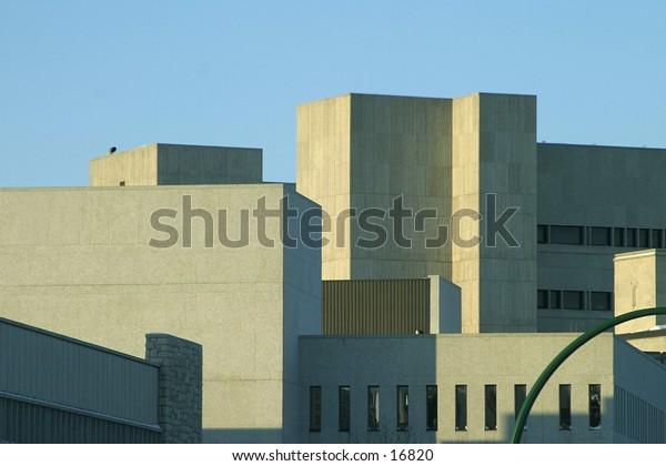 A city sky line of concrete
