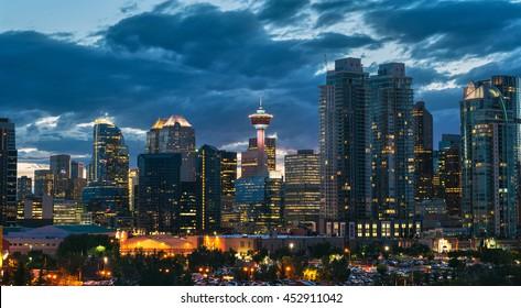 City Skyline in Calgary, Alberta, Canada