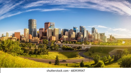 City skyline of Calgary, Alberta, Canada.