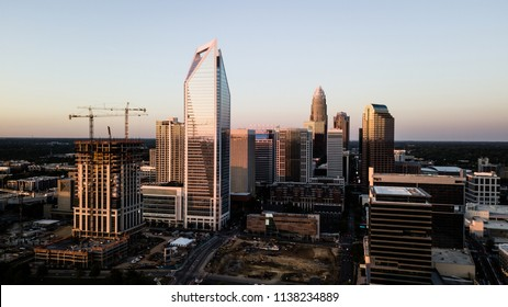 The city skyline is changing fast with new buildings under construction in Charlotte