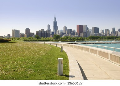 City skyline of Chicago, IL, USA