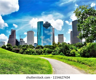 City Skyline Houston Texas