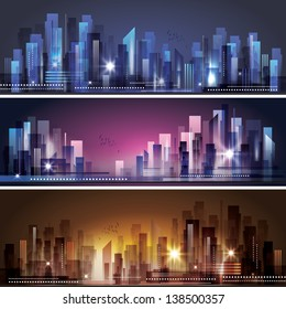 City Skyline. Raster version
