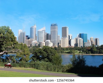 The city skyline of Sydney, Australia.