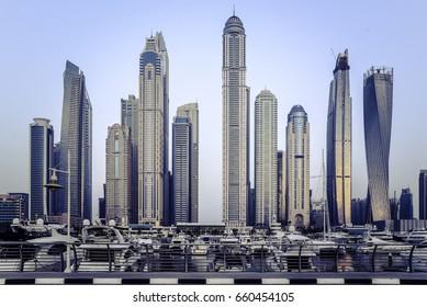 City skyscrapers view