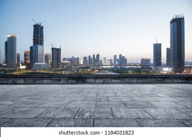 City skyscrapers and city viewing platforms.