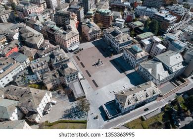 City of Sondrio, Garibaldi Square. View from above