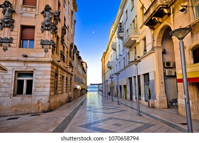 City of Split architecture view in Marmontova street, Dalmatia region of Croatia