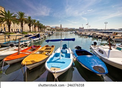 City of Split colorful harbor view, Dalmatia, Croatia