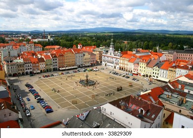 The city square in tower view