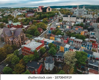 the city of st. johns, newfoundland, canada in the summer
