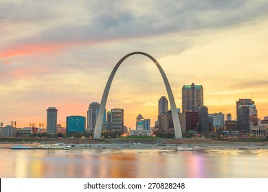 City of St. Louis skyline. Image of St. Louis downtown  at twilight. - Shutterstock ID 270828248