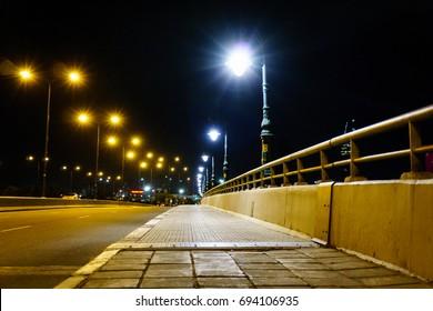 The city street