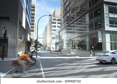 City Street Building View, Montreal, Quebec, Canada