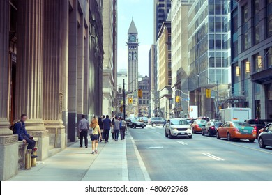 City Street Building View, Toronto, Ontario, Canada
