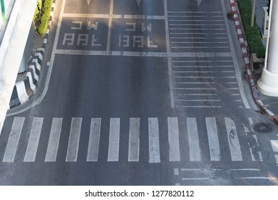 City street and crosswalk
