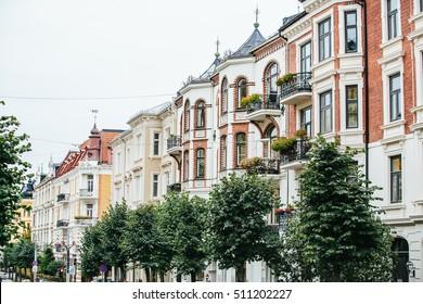City street. Europe, Norway, Oslo.