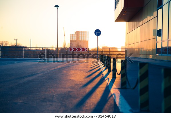 City Street Scene Backround Use Story Stock Image Download Now