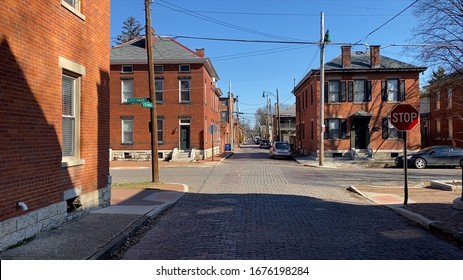 city street stop sign and road