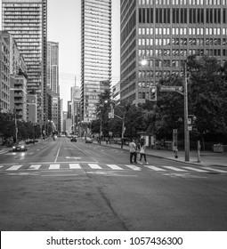City street of Toronto, Canada