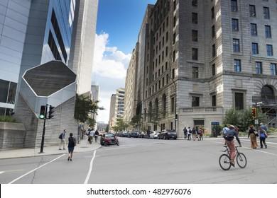 City Street View, Montreal, Quebec, Canada