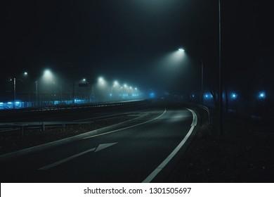 Nachtstraßen / Nebel