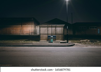 City streets at night in North East England