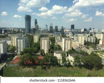 City in The Summer. Warsaw. Poland. Europę.