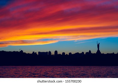 City, sunset