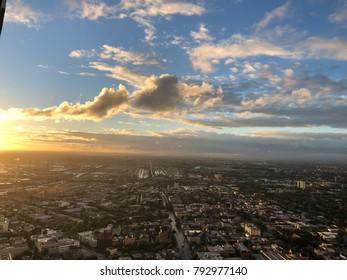 City sunset Melbourne