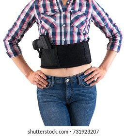 City tactical holster for concealed carrying weapons with a gun inside