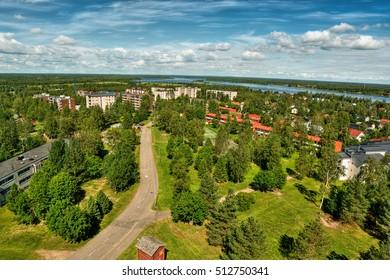 City of Tornio in Lapland (Finland), HDR-technique