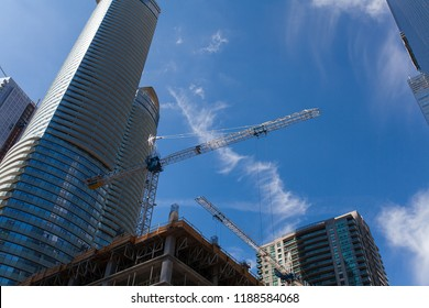 city of Toronto with construction of building