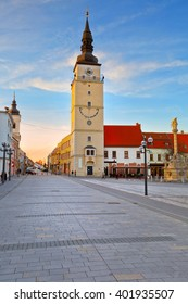 City tower in the main square of Trnava, Slovakia.