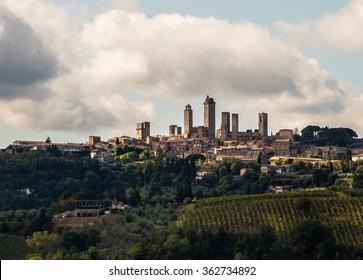 City towers of San Gimignano, Italy