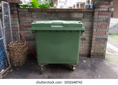 city trash cans