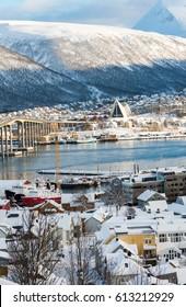 City of Tromso in winter