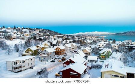 city of Tromso in the winter
