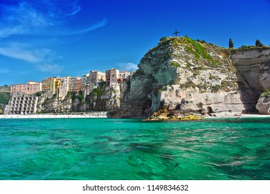 The city of Tropea in the Province of Vibo Valentia, Calabria, Italy.