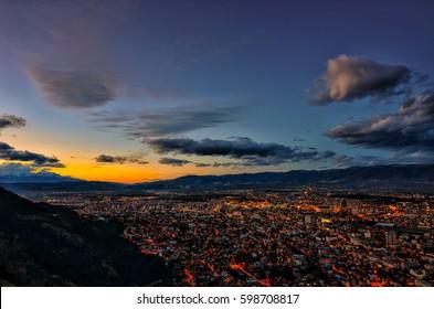 city under the sunset