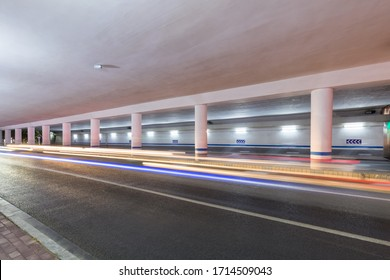 city underpass background,  road at night