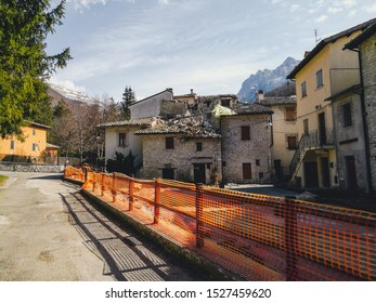 City of Usita, Marche, Italy is a ghost town almost two years after being hit by a devastating earthquake