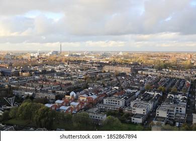 city utrecht nederland centrum from 80meter hight