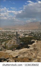 City of Van and Van Castle view in Eastern Anatolia, Turkey.