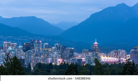 The city of Vancouver, British Columbia, Canada