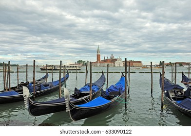 The city of Venice, the narrow streets of Venice with houses where galleys and boats float, the Venetian lagoon