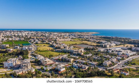City view above Paphos, Cyprus 2018